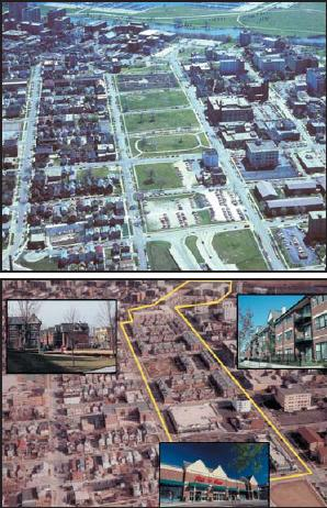 East Pointe before and after redevelopment